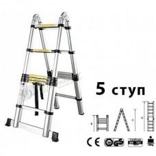 Лестница-стремянка телескопич. МИ 1.6м/3.2м 5ступ