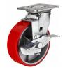 Колесо большегрузное полиуретановое поворотное с тормозом (SCpb42, SCpb55, SCpb63, SCpb80)