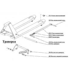 Схема  нумерации деталей ходовой части №1